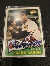 Hank Aaron AUTOGRAPHED 2004 Topps All-Time Fan Favorites Baseball Card HOF