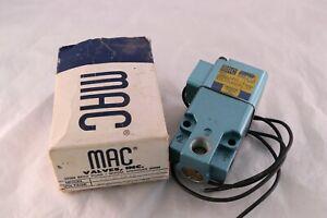 MAC Solenoid Valve 225B-121C 150 PSI 15W 15 Watt 3 Port New in Box 24VDC 220/50