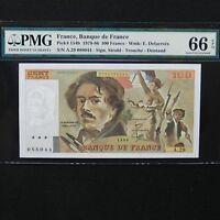 1980 France 100 Francs, Pick # 154b, PMG 66 EPQ Gem Uncirculated