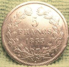 CPX-538 FRANCE 1835 BB 5 FRS ARGENT LOUIS PHILIPPE I  CV 300€ A 800€ RECHERCHE