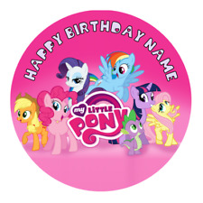 My Little Pony Personalised Edible Birthday Party Cake Decoration Topper  Image