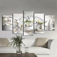 5Pcs/Set Modern Flower Canvas Painting Wall Art Home Room Decor Picture Print AU