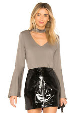 NWT sen Livingston Exaggerated Sleeve Top in Brindle taupe blouse - Small $141