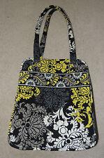 Vera Bradley Large Baroque Black White Yellow Tote Bag Purse, Nice!!