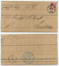 64757 - Faltbrief - Flatow 22.9.1885 nach Zempelburg