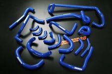 Silicone Ancillary Heater Coolant Hose Fit Nissan Skyline GTR R33 R34 RB26 Blue