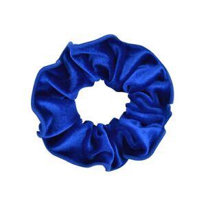 Women Velvet Elastic Dark Blue Hair Headband Girl Solid Ring Casual Color Rubber