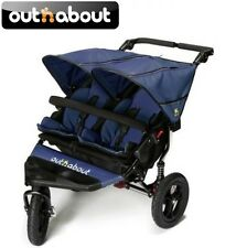 Out n about V4 Nipper 360 Double Pushchair - Royal Navy/2 Footmuffs/Raincover