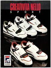 "FILA ATHLETIC FOOTWEAR SNEAKERS 8"" X 11"" Magazine Ad 1980's M18"
