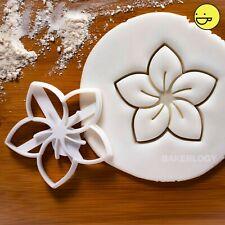 Frangipani Flower cookie cutter | Plumeria floral garden tea party wedding favor