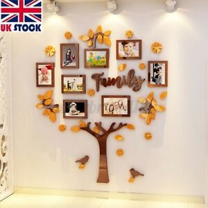 3D Family Tree Picture Photo Frame Wedding Birthday Wall Sticker Home