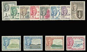 British Virgin Islands 1952 KGVI set MNH cat £50 ($67). SG 136-147. Sc 102-113.