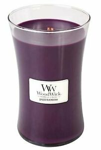 WoodWick Spiced Blackberry 21.5 ounce Large Jar Candle Burns 180 Hours