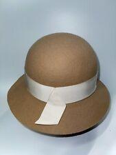 Helen Kaminski Butterscotch Lucelle Felt Bucket Cloche Hat NWT One Size O/S