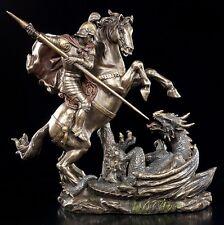 Heiliger Georg Figur - Der Drachentöter - Statue Drache Ritter Deko Veronese