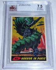 1962 Topps Bubbles Mars Attacks Horror in Paris BVG 7.5 Card #41 Horror Aliens