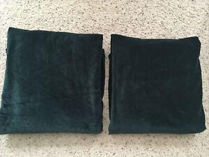 "Ikea SANELA Velvet Curtains Room Darkening 2 Panels 1 pair Dark Green 55"" x 98"""