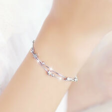 White Gold Bracelet Korean Fashion Wild Star Double Star Bracelet Women Jewelry
