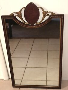 VTG ANTIQUE  ORNATE FRENCH PROVINCIAL WALL HANGING MIRROR  38 1/2- 21 3/4