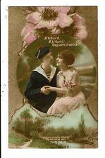 CPA-Carte Postale -France-Un marin et sa fiancée en 1912: A babord ,à tribord...