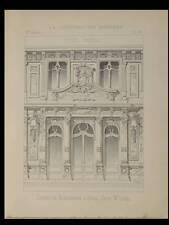 PARIS, RESTAURANT DUVAL - 1893 - PLANCHE ARCHITECTURE - BOUILLONS DUVAL, LECQ