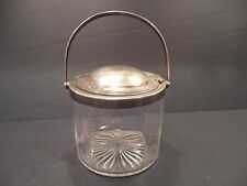 Antique HUKIN & HEATH H&H Hallmark Sterling? Silver Condiment Server Jam Jar Old