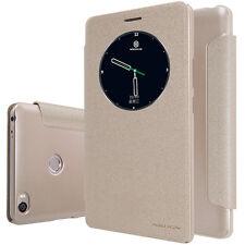 Xiaomi Mi Max Schutz Hülle Tasche Nillkin Sparkle Leather Case Champagne Gold