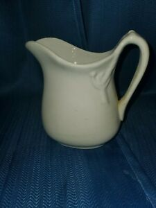 Vintage Ironstone Pitcher Cream Colored Marked On Bottom