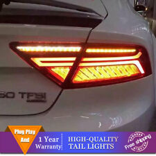 New LED Taillights Assembly For Audi A7 2012-2018 Red LED Rear lights