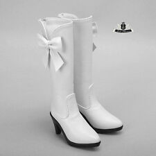 1/3 BJD Shoes Supper Dollfie Boots Dollmore Luts AOD DZ white High heels shoes