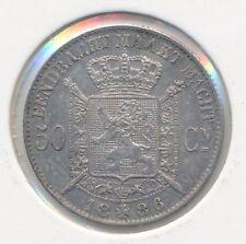 België/Belgique 50 ct. Leopold II 1886 Vl Morin 185 (1581)