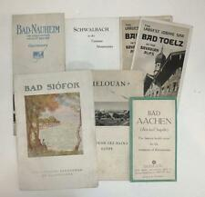 LOT OF BROCHURES FOR 1920S EUROPEAN BATHS HEALTH SPAS