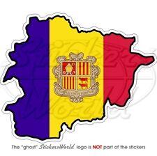 Andorre Andorra principat Europe avec drapeauautocollant plaque numéro au choix