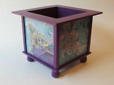 Purple Geode Print Planter Box - Paint Stick Planter Box - Purple Druzy Planter