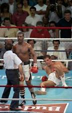Old Boxing Photo Michael Spinks After Knocking Down Gerry Cooney