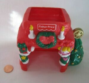 Fisher Price Little People CHRISTMAS HOLIDAY FIREPLACE CHIMNEY w/ STOCKINGS