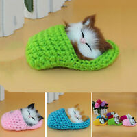 With Sound Cat Kitten Sleep Slipper Plush Doll Cute Stuffed Baby Xmas Toys Gift