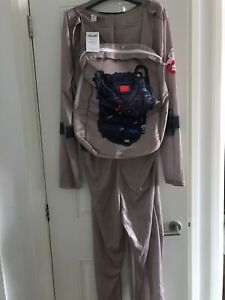 Adult Ghostbusters Fancy Dress Outfit All In One And Backpack UK Size S-M