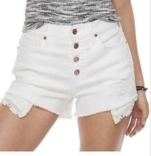 Juniors mudd distressed girls jean shorts