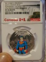 DC comics original 2015 canada s$10 superman legacy colorized er pf 70 matte