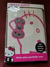 Hello Kitty iPad mini portfolio case with multiple viewing angles new white