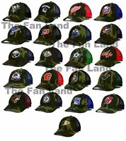 New NHL Camo Camouflage Mens Trucker Reebok Snapback Hat Cap