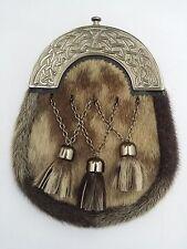 New Scottish Dress Kilt Sporran Formal Seal Skin Celtic Cantle Antique/Sporran