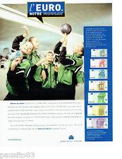 PUBLICITE ADVERTISING 056  2001   Banque de France  la monnaie Euro