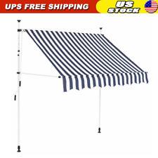 Manual Retractable Awning Patio Garden Shelter Window Door Canopy Sun Shade 2-4m