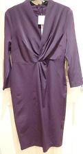V-Neck Patternless 3/4 Sleeve Wrap Dresses
