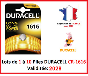 Lot de 1 à 10 Pile CR-1616 / DL-1616 DURACELL bouton Lithium 3V DLC 2028