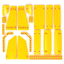 Lego 21x Genuine Technic Bright Orange Studless Beams Liftarms Panels Bricks NEW