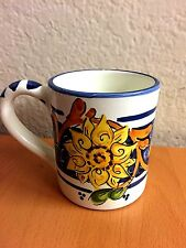 HAND PAINTED MUG Dip a mano ST CH - Italy. Sunflower motive. Never Used