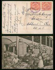 Mayfairstamps Guatemala 1924 to Ashland OH Women Selling Food Postcard wwr_01081